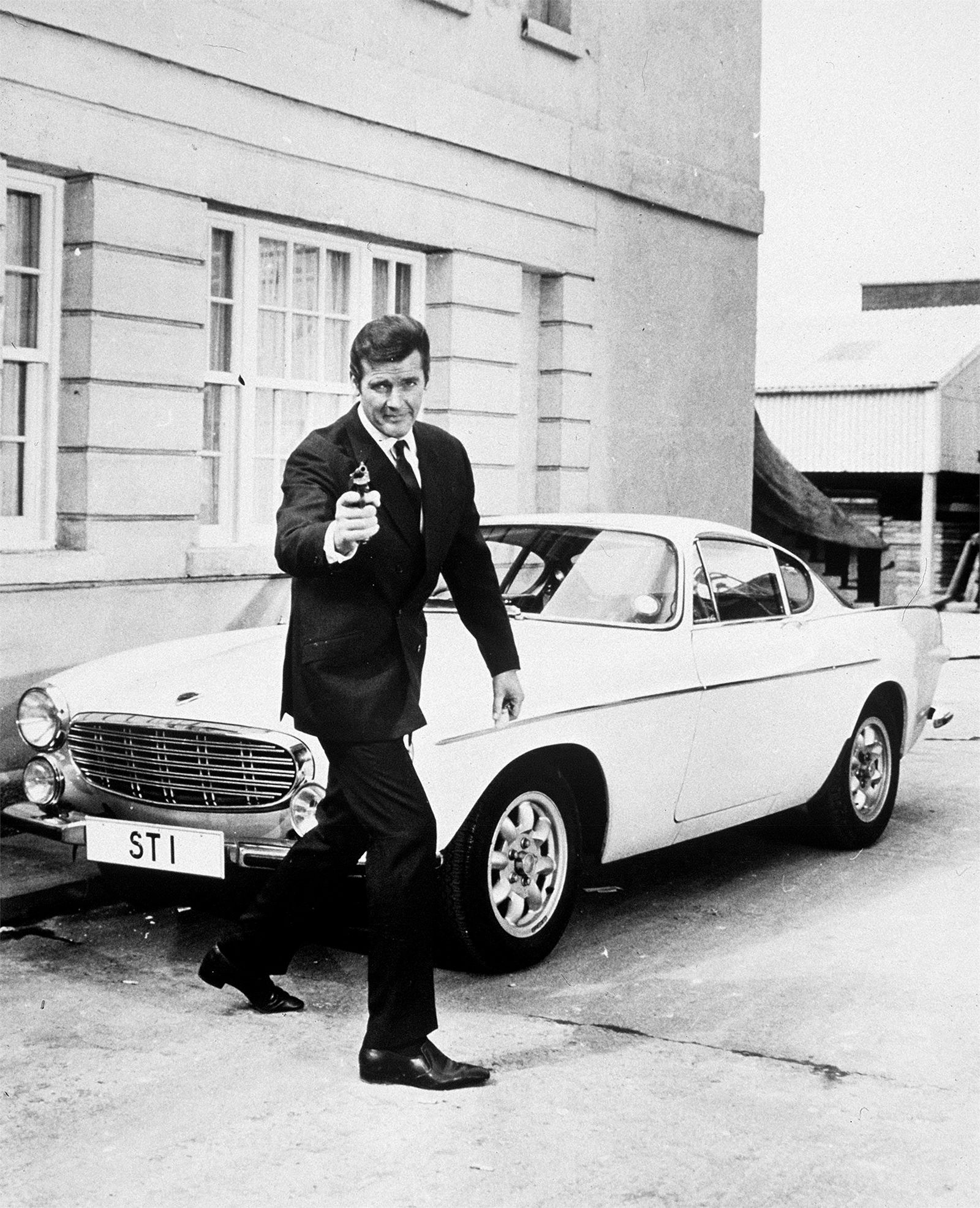 Roger Moore as Simon Templar in The Saint
