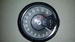 omdrejningstæller med nyrenoveret ur